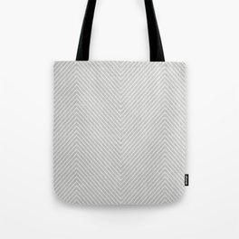Stitch Weave Geometric Pattern in Grey Tote Bag