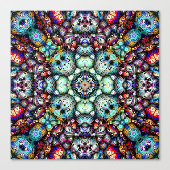 Textural Surfaces of Symmetry Canvas Print