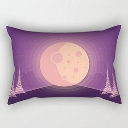 Night time full moon Rectangular Pillow