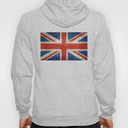 "UK British Union Jack flag ""Bright"" retro Hoody"
