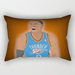 Oklahoma Thunder - Russell Westbrook Rectangular Pillow