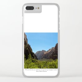 Tonic of Wilderness Clear iPhone Case