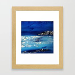 Winter scene in the alps Framed Art Print
