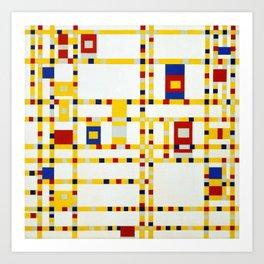 Broadway Boogie Woogie Piet Mondrian, 1942 -1943 Art Print