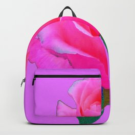 """PINK LOVERS"" PINK ROSE ON  PINK COLOR Backpack"
