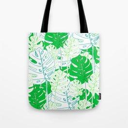 Banana Leaf in Teal Tote Bag