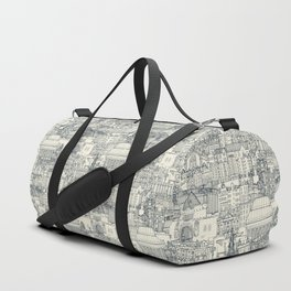 Edinburgh toile indigo pearl Duffle Bag