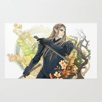 thranduil Area & Throw Rugs featuring Thranduil  by kagalin