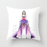 sparkle Throw Pillows featuring Sparkle by Tania Santos