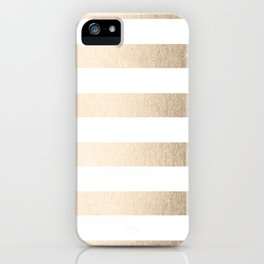 Simply Stripes in White Gold Sands iPhone Case