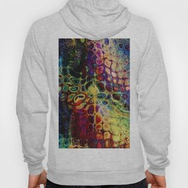 colorful abstract snake skin Hoody