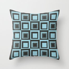 Blue Squares Throw Pillow