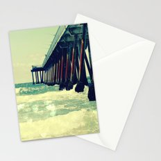 Hermosa Beach Pier Heart Bokeh Stationery Cards
