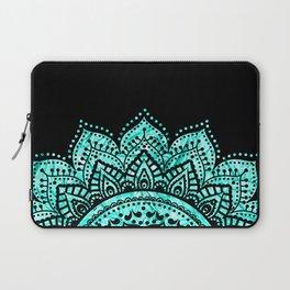Black teal mandala Laptop Sleeve