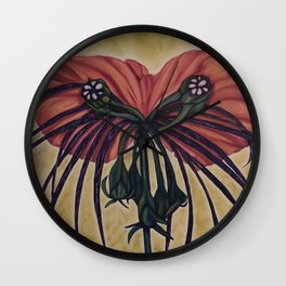 Batwing Orchid Wall Clock
