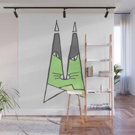Green cat Wall Mural