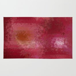 Pink and Red Moon Rug
