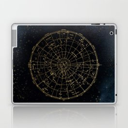 Golden Star Map Laptop & iPad Skin