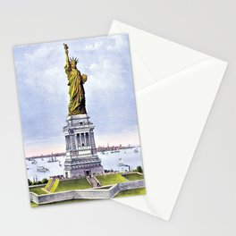 12,000pixel-500dpi - Nathaniel Currier - Currier and Ives Liberty - Digital Remastered Edition Stationery Cards