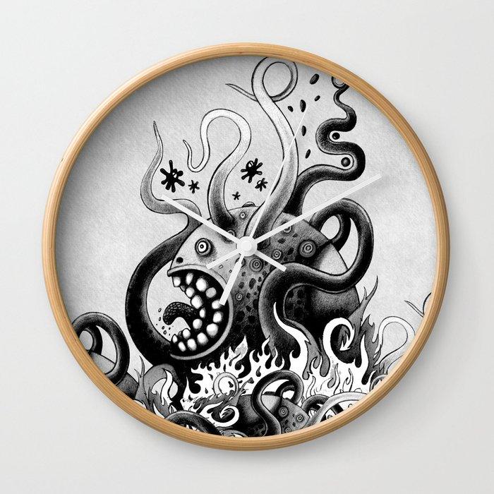 Dark Octoworm Wall Clock