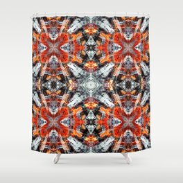 Fire background pattern Shower Curtain