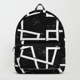 Black and White Minimalist Geomentric Backpack