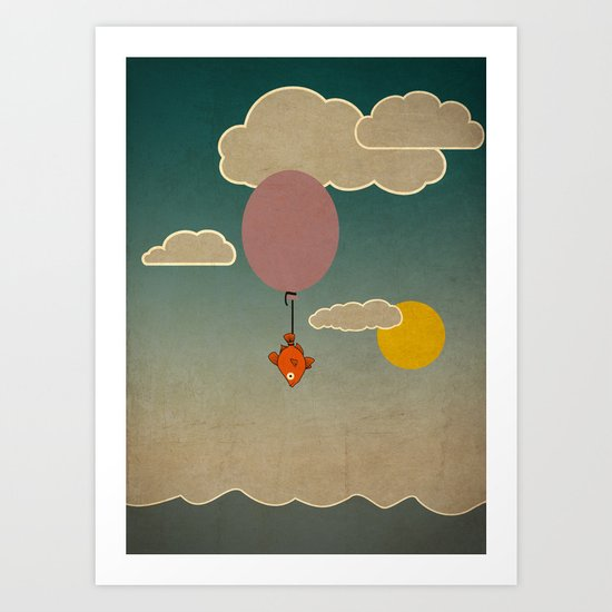 The flying fish Art Print