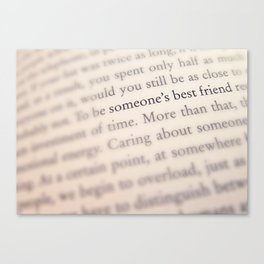 Someone's Best Friend Canvas Print