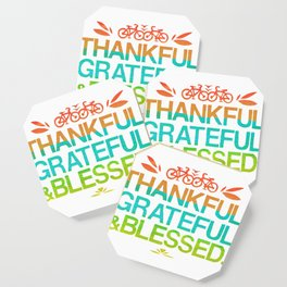 Thankful, Grateful & Blessed 2 Coaster