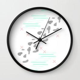 Fresh illustrated abstract print Wall Clock