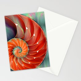 Nautilus Shell - Nature's Perfection by Sharon Cummings Stationery Cards