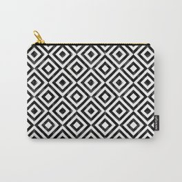 Black and white watercolor diamond pattern Carry-All Pouch