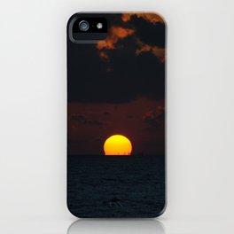 melting sun iPhone Case