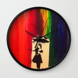 Raining colour  Wall Clock