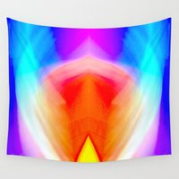psychedelic Wall Tapestries featuring Psychedelic by Rafael Salazar