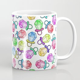 Retro 80's 90's Neon Colorful Ring Candy Pop Coffee Mug
