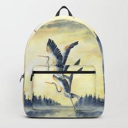 Flight Of Blue Heron  Backpack