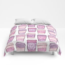 Coffee Cups | Purple Palette Comforters