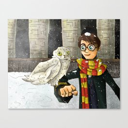 H. Potter and Hedwig Canvas Print