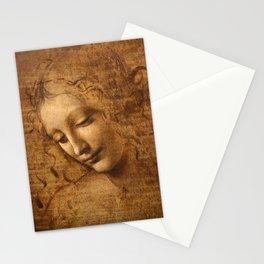 Head of a Woman Painting by Leonardo da Vinci Stationery Cards