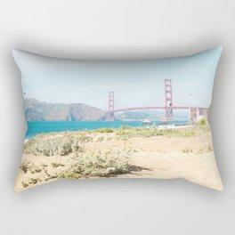 Golden Gate Bridge Beach Rectangular Pillow