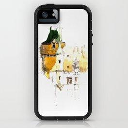 Castle in watercolor iPhone Case