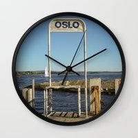 oslo Wall Clocks featuring Oslo by fedepallas