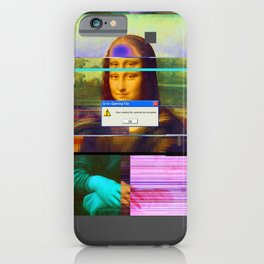 Mona Lisa _corrupt iPhone Case