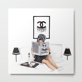 Relax reading Metal Print