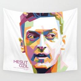Mesut Ozil WPAP 1 Wall Tapestry
