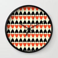 hearts Wall Clocks featuring HEARTS by d.ts