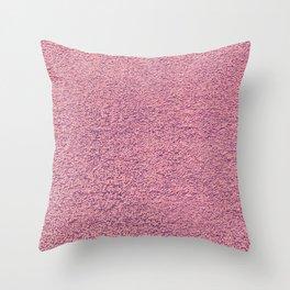 Pink Shag pile carpet Throw Pillow
