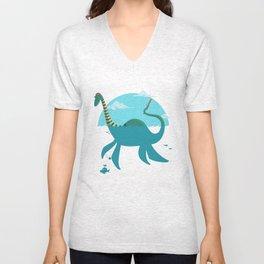 """Loch""""Ness"""" Monster Unisex V-Neck"""