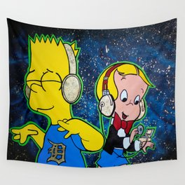 Royal House Recording Bart & Richie Rich Painting Wall Tapestry
